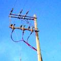 Subestación eléctrica transición aérea subterránea.