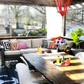 Terraza con comedor y zona de estar