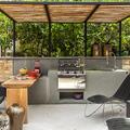 Terraza con zona de cocina