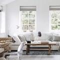 Sala con textiles para verano