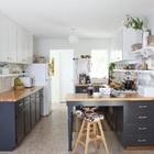 Cocina remodelada con pintura