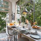 Comedor con patio