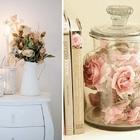 Flores secas en habitación