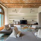 Sala con techo abovedado cerámico