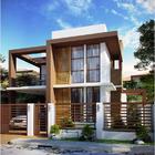 Fachada casa de dos niveles construida con steel frame