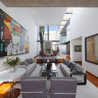 Interior casa construida con acero