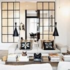 Sala decorada con simetría