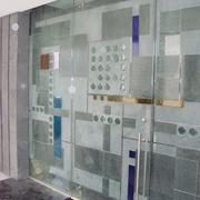Acceso de cristal templado decorado