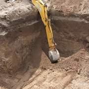afine Y piso excavación