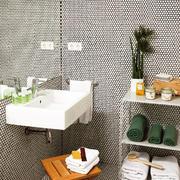 Baño mini con lavabo volado