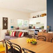 salón y comedor colorido
