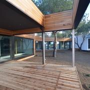Fachada casa pasiva fabricada en madera