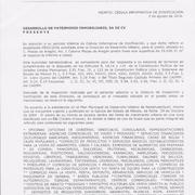 CEDULA INFORMATIVA DE ZONIFICACION