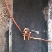 Colocacion de cable desnudo en conector GAR para conectar con el gabinete