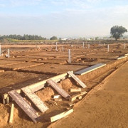 Excavación de cepas en cimentacion