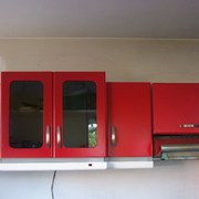 Distribuidores Sayer lack - cocina integral roja
