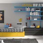 habitacion-juvenil-en-tonos-amarillos-y-grises-
