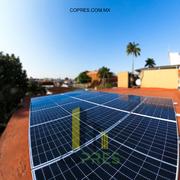 Instalación final de paneles solares