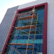 Limpieza de ventanales en altura 25mts, trabajo de alto riesgo