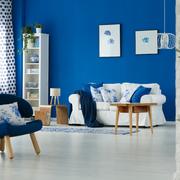 Living deco azul