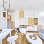 Departamento con piso de madera