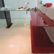 Mobiliario en taller dental, Clinica Dental Diez. Napoles, D.F.
