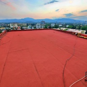 Impermeabilizante prefabricado terracota. Obra Copilco