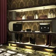 Muebles de exhibición tienda Roger Boots