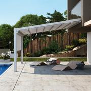 Pérgola moderna en la terraza