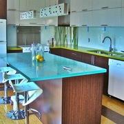 Plancha y respaldos de vidrio para cocina