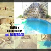 Diseño y construcción de piscina con cascada