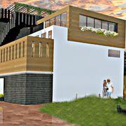 Construcción de tres departamentos.
