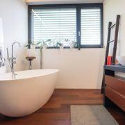 Remodelación de baño con piso vinílico