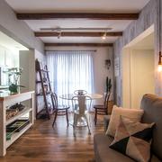 Departamento estilo nórdico con piso de madera