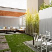 terraza con lámina galvanizada