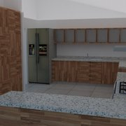 Vista diseño de cocina