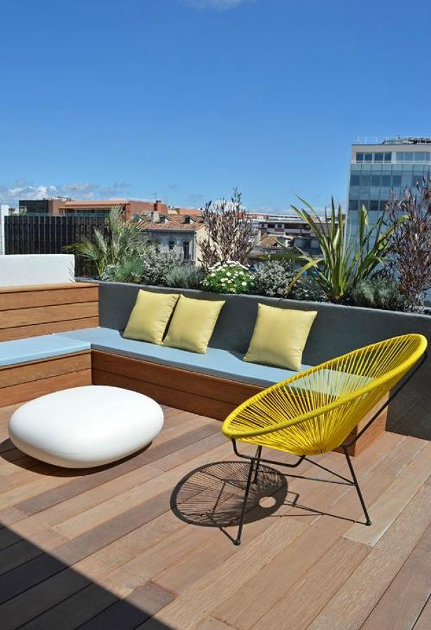 Foto terraza con tarima de madera 175325 habitissimo - Tarima para terraza ...