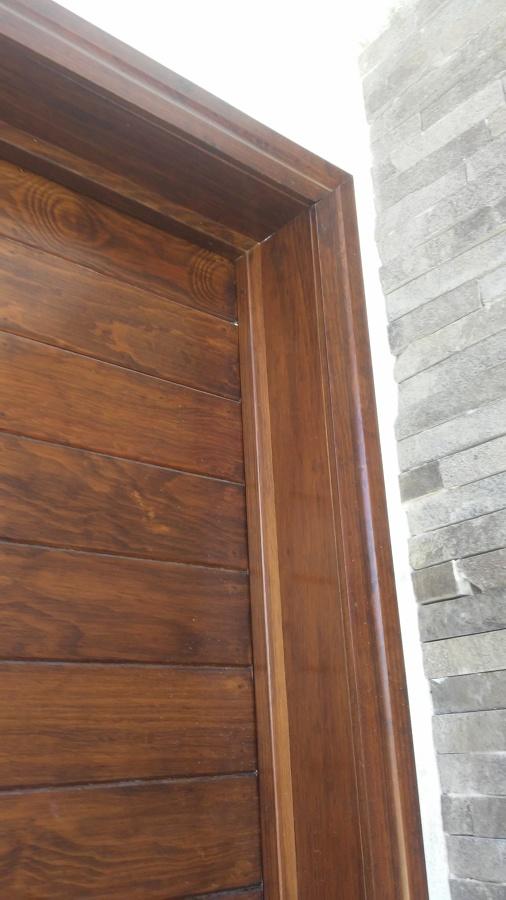 Puerta de madera y triplay ideas dise o de interiores for Diseno puertas de madera interiores