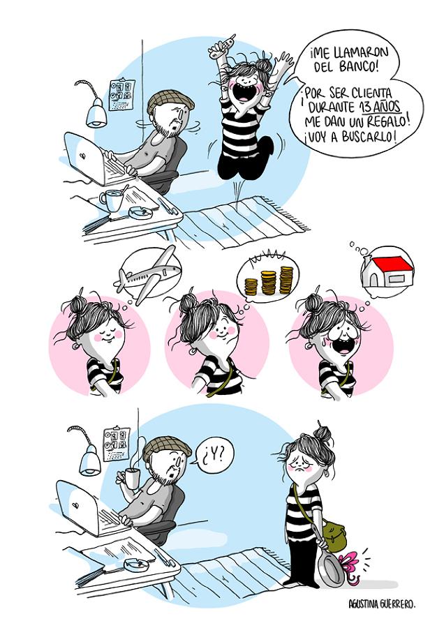 Ilustración de Agustina Guerrero vida en pareja