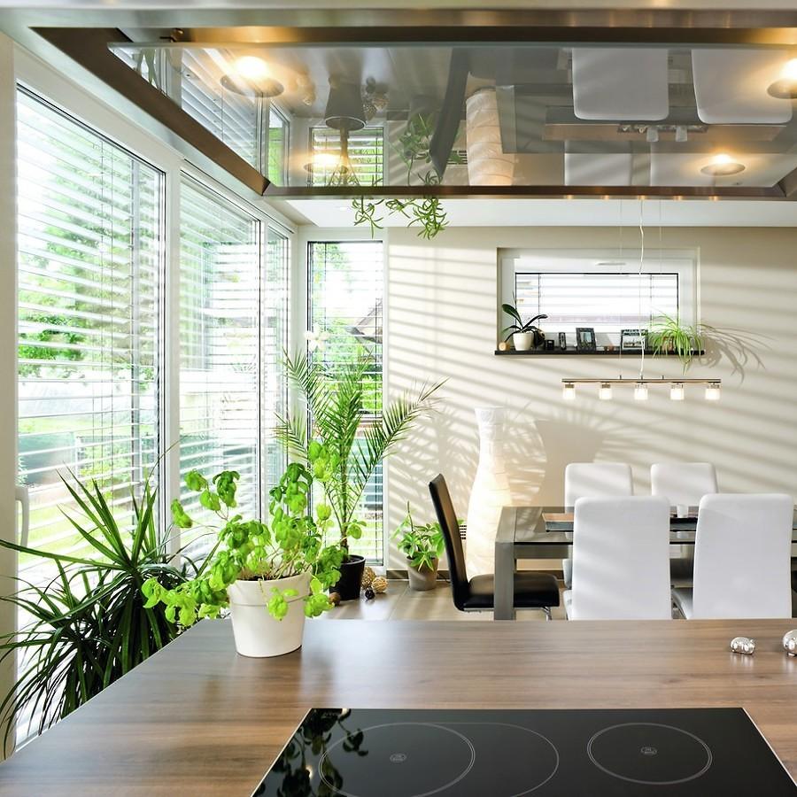 Cocina decorada con plantas