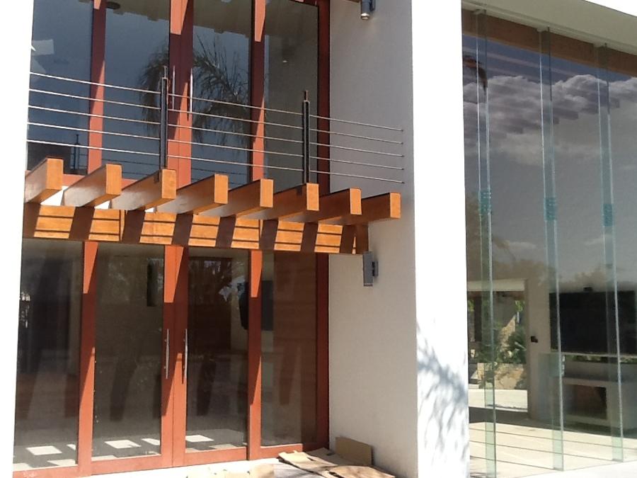 Aluminio imitación madera serie residencial