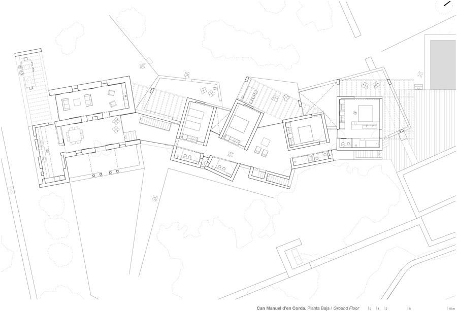 Plano ampliación de casa tradicional