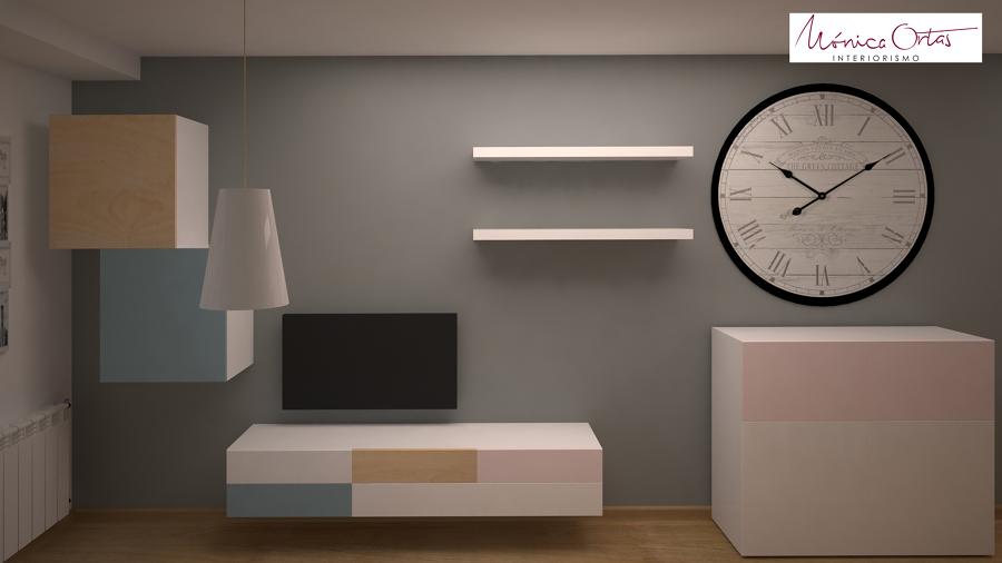 Anteproyecto con imágenes en 3D de la sala