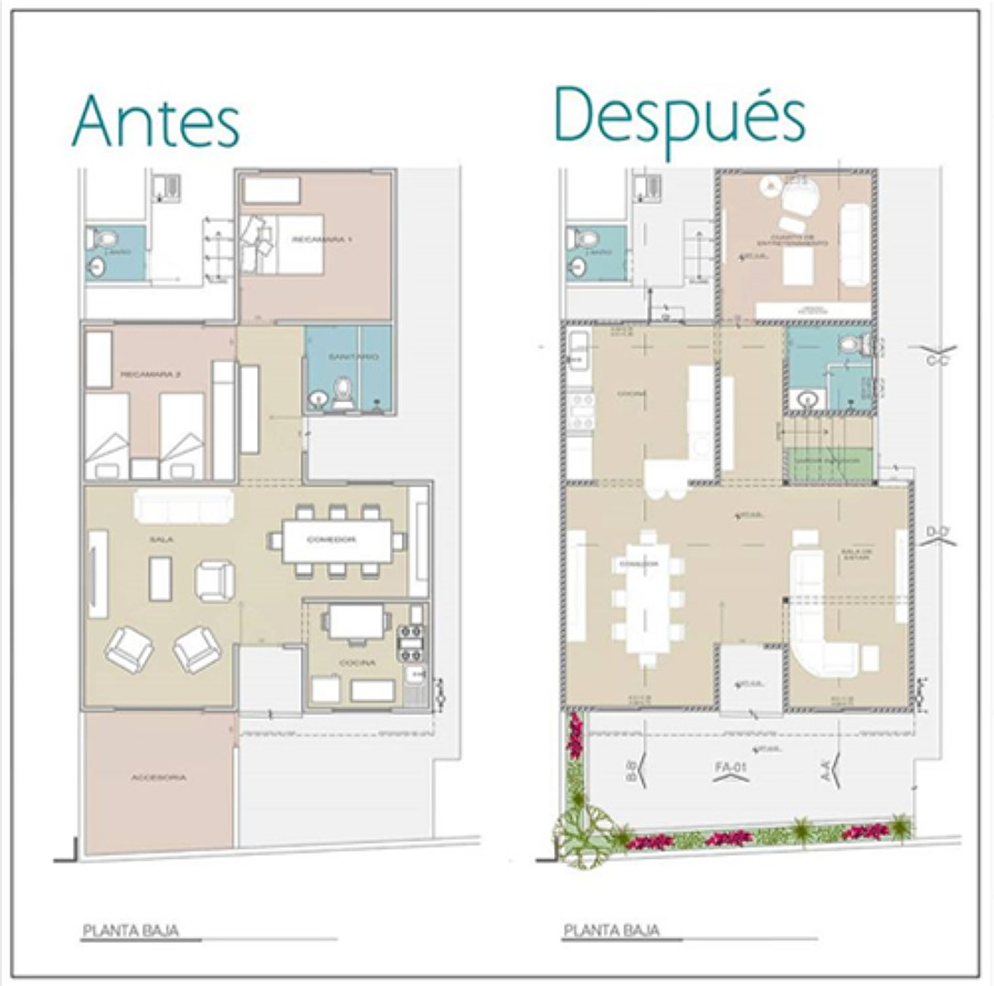 Antes & Después Planta Baja