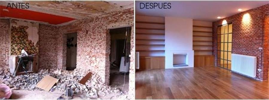 Foto antes despu s sala de estar de regio remodelaciones for Remodelacion de casas pequenas fotos