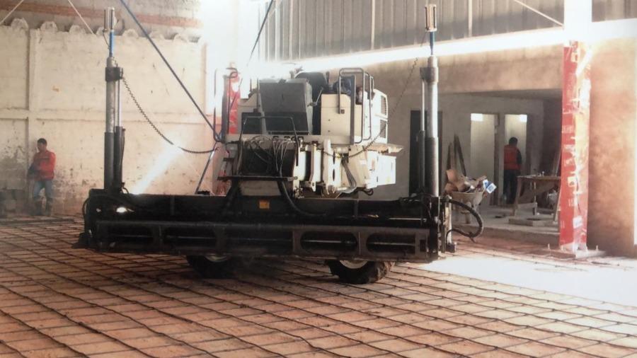 Aplicación de concreto para losa