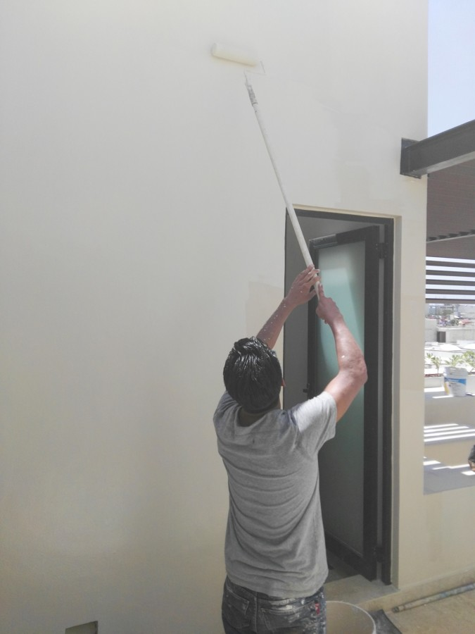 Aplicacion de pintura en exteriores