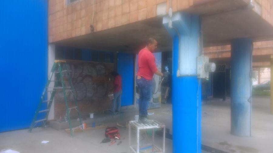 aplicacion de pintura en pilares