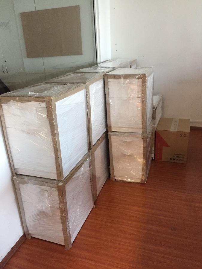 Archiveros empacados y protegidos