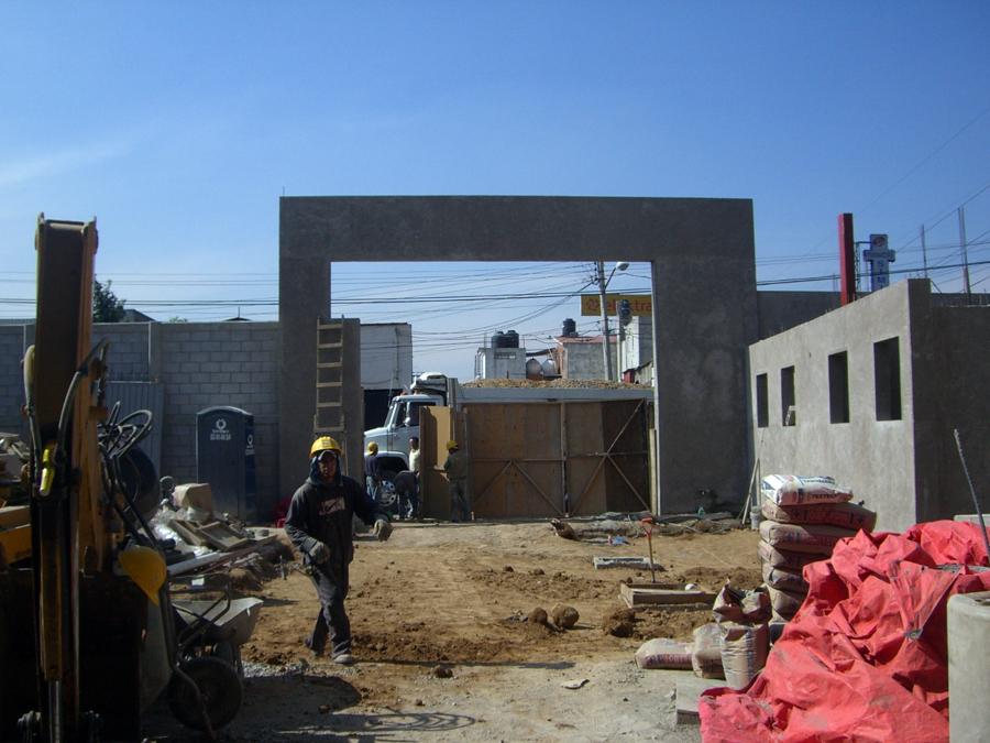 Arco de concreto.